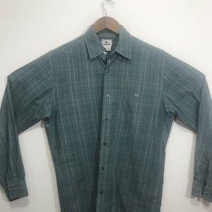 Lacoste blue patterned shirt sz 40 long sleeve